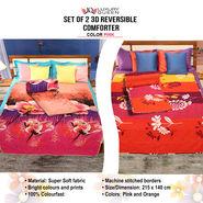 Pack of 2 - 3D Reversible Comforters