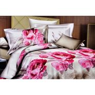 4D Printed  Double Bed Sheet With 2 Pillow Cover- M-022
