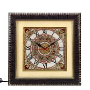 Handpainted Motifs Marble Wall Clock-MAR15382