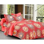 Story@ Home Red cotton Magic 1 Double Bedsheet With 2 Pillow cover-MG1406