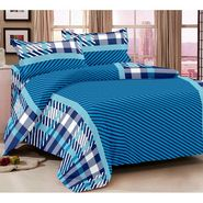 Storyathome  Cotton Blue 1 Double Bedsheet With 2 Pillow Cover-MG1408