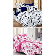 Set Of 2 Double Bedsheet With 4 Pillow Cover-1431-1465