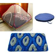 Storyathome Double Bed foldable Mosquito Net With 1 Pc Door Mat -MOS_101-DN1407