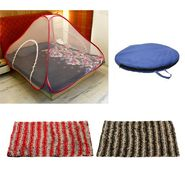 Storyathome Double Bed foldable Mosquito Net With 2 Pc Door Mats -MOS_101-EC_1426-1430_Z