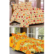 Set of 2 Valtellina Double Bedsheet With 4 Pillow Cover-MO016029