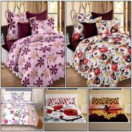 Storyathome 14 Pcs Premium 100% Cotton Designer Bedsheets Combo-MP_1202-1203-PC_1404-1406-FY1422