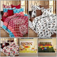 Storyathome 14 Pcs Premium 100% Cotton Designer Bedsheets Combo-MP_1206-1208-PC_1407-1410-FY1424