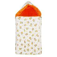 Wonderkids Orange Teddy Print Baby Carry Nest