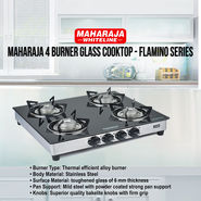 Maharaja 4 Burner Glass Cooktop - Flamino Series