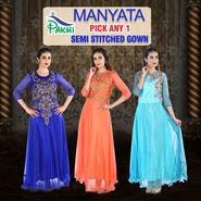 Manyata Pick Any 1 Semi Stitched Gown (SSG2)