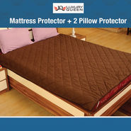 Mattress Protector + 2 Pillow Protector