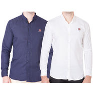 Cliths Pack of 2 Cotton Shirts For Men_Md073