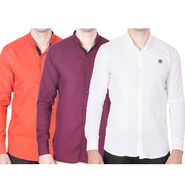 Cliths Pack of 3 Cotton Shirts For Men_Md085