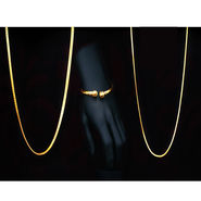 Gold Chain with Kada + Free Gold Chain (MGJ9)