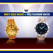 Men's Gold Watch + Free Platinum Watch (2MW2)