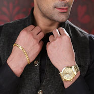 Men's Gold Watch with Gold Bracelet (MGWB1)