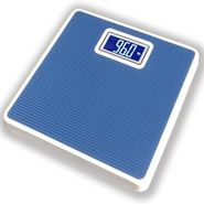 Automatic Square Shaped Metal Body Personal Weighing Scale - Blue