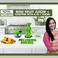 Royal Chef Mini Fruit Juicer + Chopper with 6 in 1 Slicer