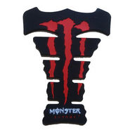 Monster Bike Petrol Tank Stylish Pad-Red (Fits to All) - Pack of 2
