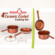 4 Pcs Ceramic Coated Cooking Set - Double Sided