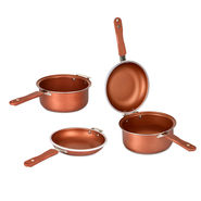 4 Pcs Marble Coated Cooking Set - Double Sided