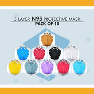 N95 Pack of 10 Protective Face Masks (HW6)
