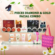 Nature's Sparsh 21 Pieces Diamond & Gold Facial Combo