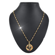 Navratna OM Pendant with Gold Chain