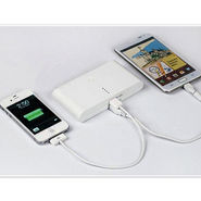 Vox Portable Power Bank (12000 mAh) With Dual USB Ports For Mobiles/MP3 Player/iPod/Tablets