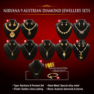 Nirvana 9 Austrian Diamond Jewellery Sets