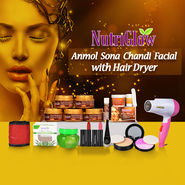 Nutriglow Anmol Sona Chandi Facial with Hair Dryer