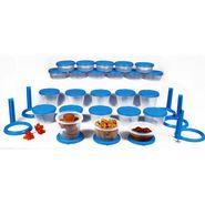 Kitchen Duniya Nesterware Food Storage Container 70 Peices-Aqua Blue