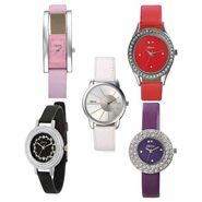 Combo of 5 Oleva Leather Watches_Osc24
