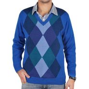Branded Regular Fit Fit Cotton Sweater_Os16 - Blue