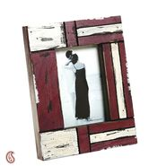 White and Red Matte contour Wooden Picture Frame-PF1401