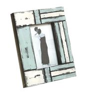 White and Blue Matte contour Wooden Picture Frame-PF1402