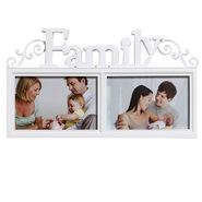 Fantastic White 2 Pictures Collage Photo Frame