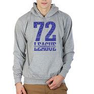 Printland Full Sleeves Cotton Hoodies_Pg1053 - Grey