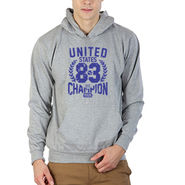 Printland Full Sleeves Cotton Hoodies_Pg1127 - Grey