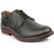 Pede Milan Synthetic Leather Black Formal Shoes -nsd10