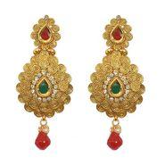 Pourni Exclusive Designer AD & Color Stone Earring_PRER34