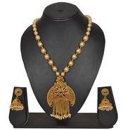 Pourni Stylish Necklace Set_Prnk156 - Golden