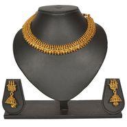 Pourni Stylish Brass Necklace Set_Prnk26 - Golden