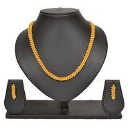Pourni Stylish Brass Necklace Set_Prnk54 - Golden