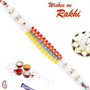 Pretty Colorful Beads Thread Rakhi