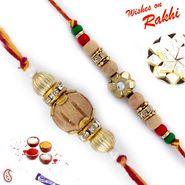 Set of 2 Beautiful & Elegant Sandalwood Rakhi