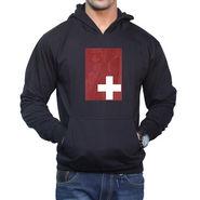 Effit Printed Regular Fit Full Sleeves Cotton Hoddies for Men - Black_PTLHODY0030