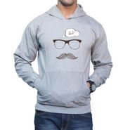 Effit Printed Regular Fit Full Sleeves Cotton Hoddies for Men - Grey_PTLHODY0063