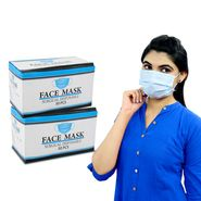 Pack of 100 - 3 Ply Disposable Surgical Masks with Melt-blown Filter (HW8)
