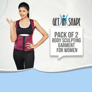 Get In Shape Pack of 2 Body Sculpting Garment for Women (GIS14)